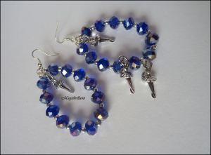 Orecchini crystal blu