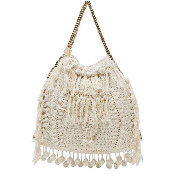 Stella McCartney Crochet Big Tote in White ... forwardforward.com