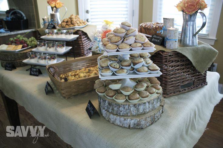 bridal-shower-food-display