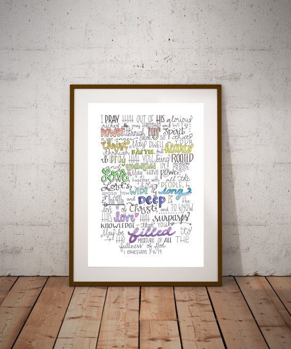 Rooted 1 Ephesians 3:16-19 by DoodlingForDays on Etsy