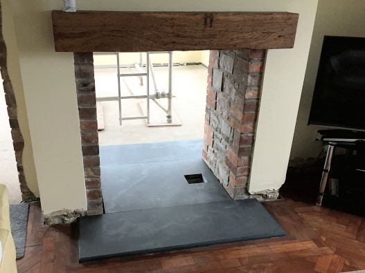 custome slate hearths