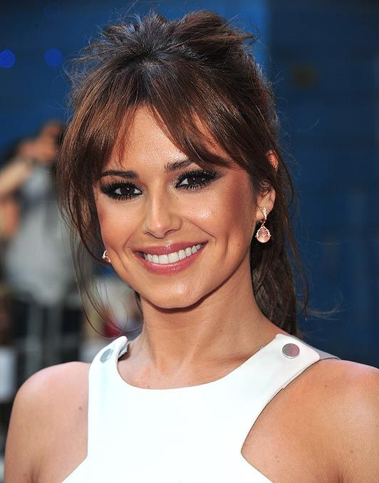 Messy Ponytail With Bangs In 2019 Bangs Ponytail Hair Beauty Cat Cheryl Cole Hair