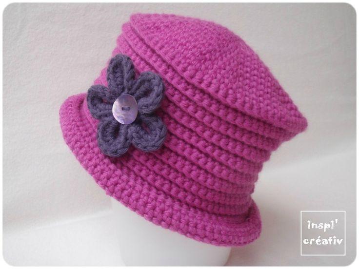 Tuto chapeau fillette au crochet