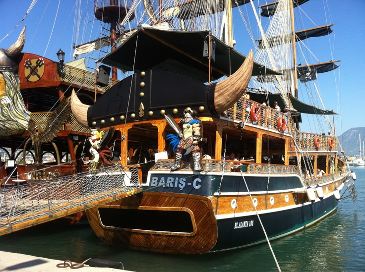 Have a sea tour in one of those pirates' time boats in Alanya - Antalya Turkey is an out of this time experience...