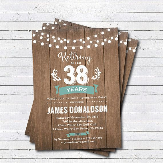 Retirement celebration invitation. Retirement dinner by CrazyLime