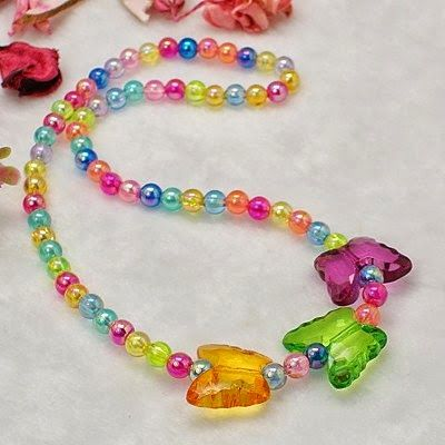 Lovely Transparent Acrylic Necklaces for Childrens Day Gift