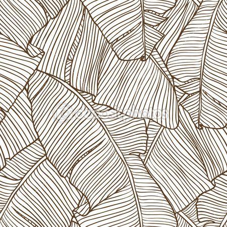Vector ilustración hojas de palmera. patrón sin costuras — Ilustración de stock #11416296