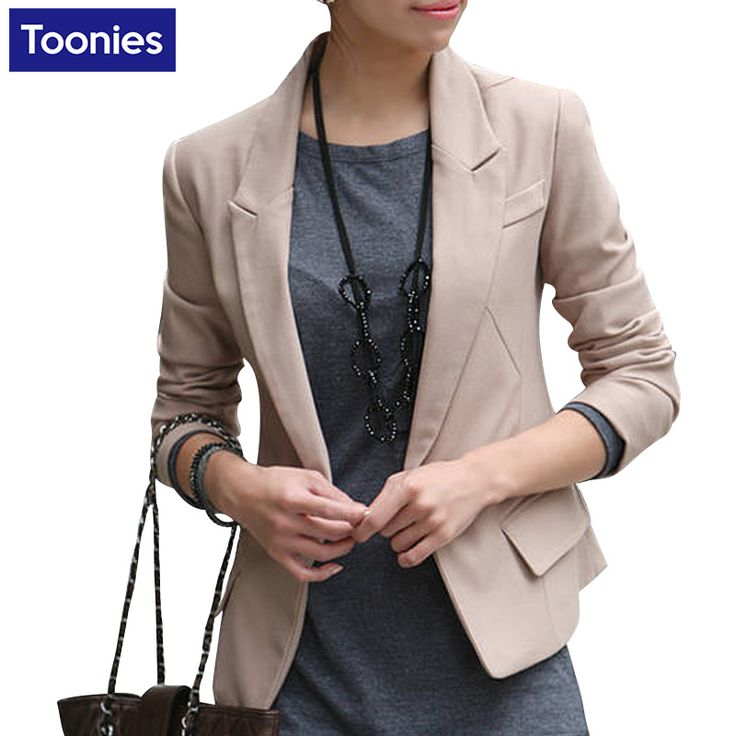 2017 Slim Fitness Women's Suits Jacket Suit Fashion Single Button Casual Black Jackets for Business Women Blazers and Jackets