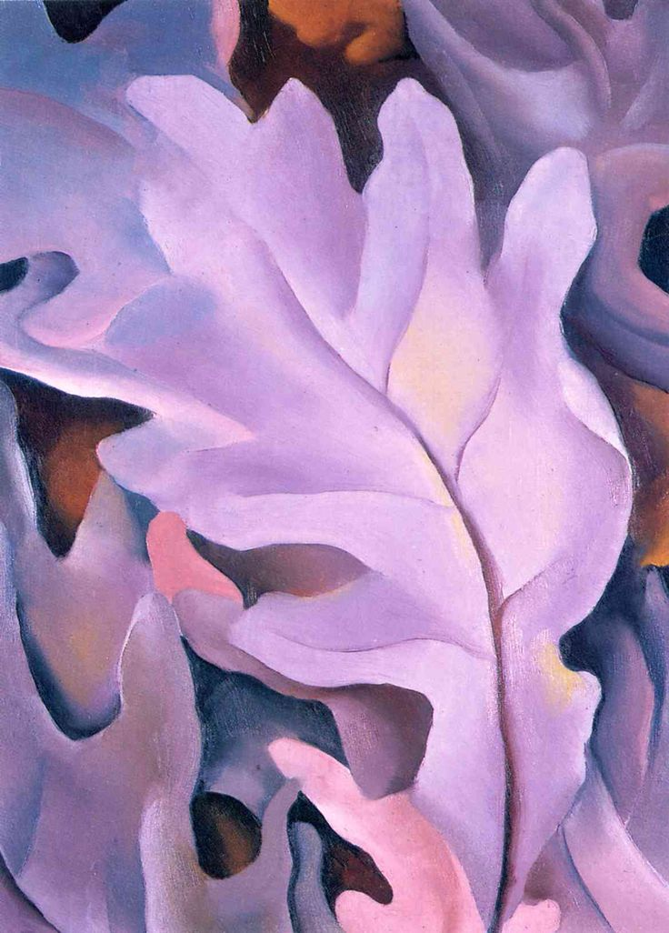 Georgia O'Keeffe - Purple Leaves, 1922