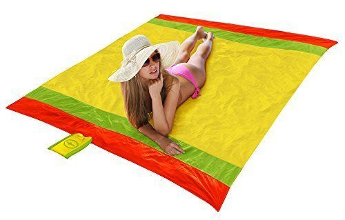 Beach Towel Picnic Blanket XL Extra Large 7 x 7 Feet Lightweight and Sand Proof