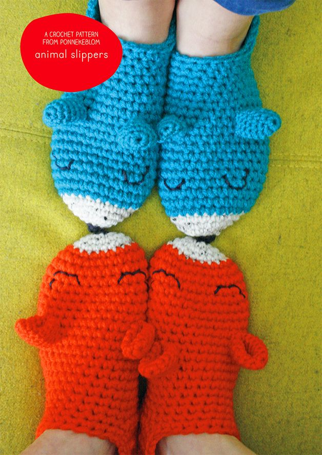 Crochet pattern animal slippers english English, Animals ...