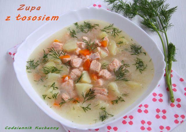 Zupa z łososia - Codziennik Kuchenny