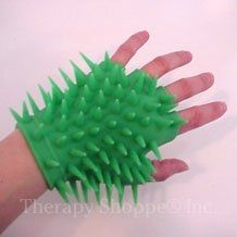 Spiky Tactile Glove - Either put on a real glove or at the end of a sleeve.to fold on