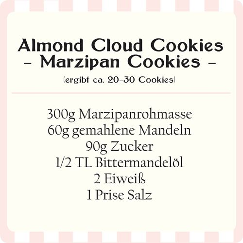 Diese Cookies habe ich vor einiger Zeit entdeckt, als ich nach Rezepten für die Weihnachtszeit gesucht habe. Die Almond Cloud Cookies  sind...