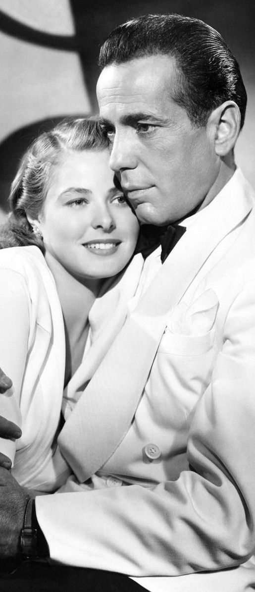 Ingrid Bergman and Humphrey Bogart in Casablanca 1942.- my fav movie of all time.. So intrigued with it- I went to Casablaca, when I graduated College 1982