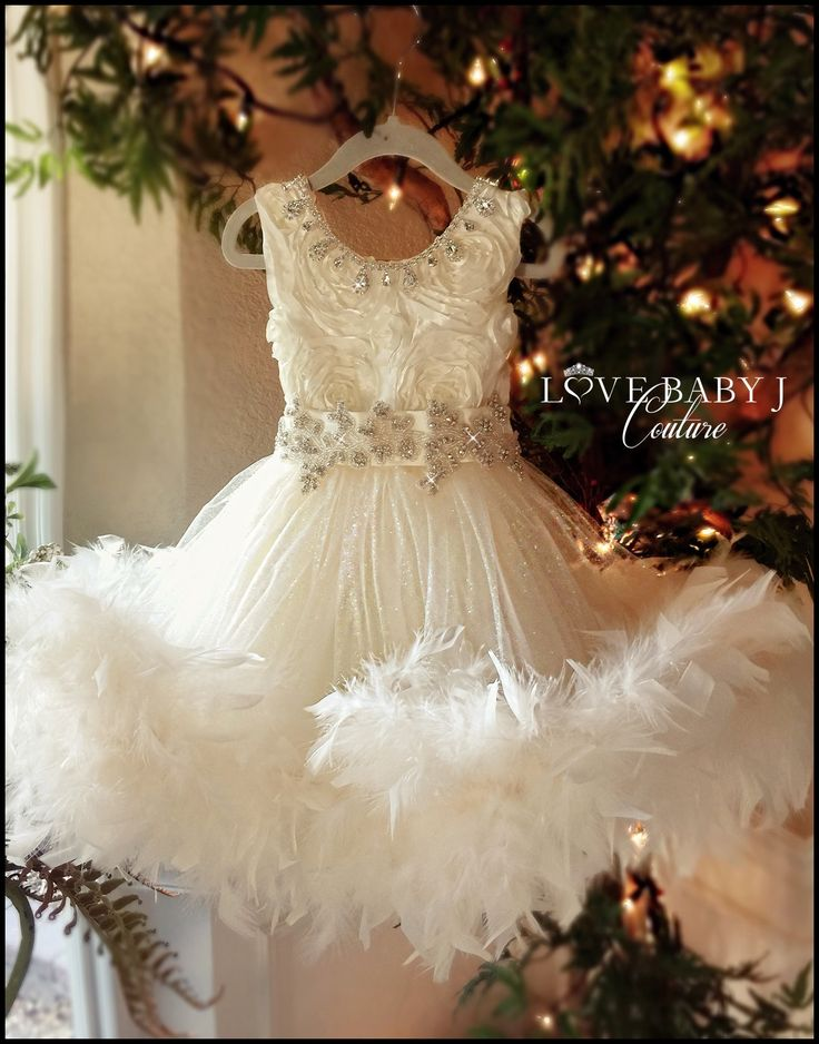 """Frosted Perfection""... One of our Perfect Princess Style Flower Girl Dresses"