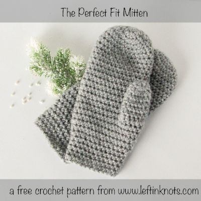 """These mittens will fit you perfectly because they can be easily customized in length! They are the next pattern in my """"Crochet Basics"""" series, which means they are simple and adorable. Perfect for learning, teaching, selling or gifting!"""