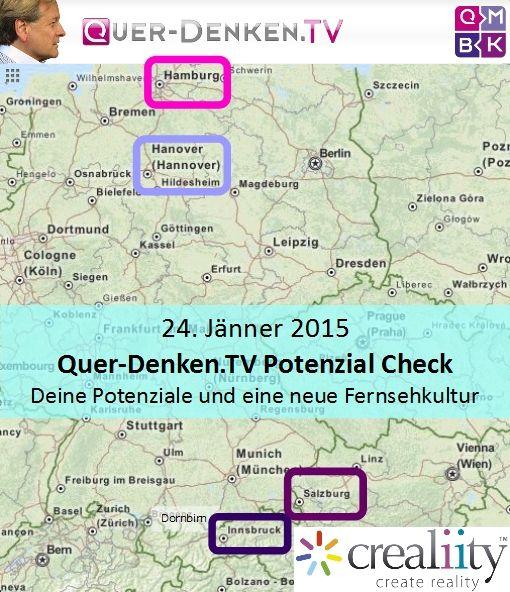 in diesen 4 Städten sind wir am 29. Jänner 2015 https://crealiity.com/querdenken.tv.php