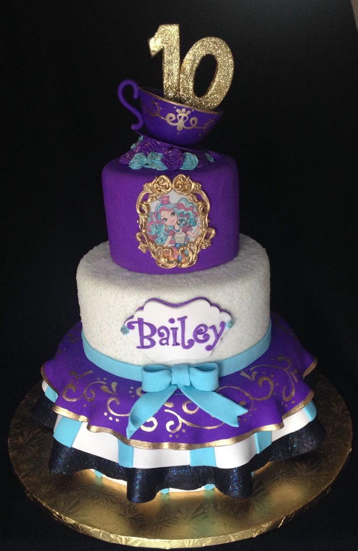 Ever After High  Madeline Hatter Cake by IG-@cakebaby1130