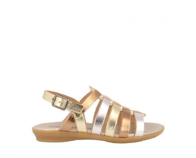 Sandalias de Niña Multicolor Metalizado