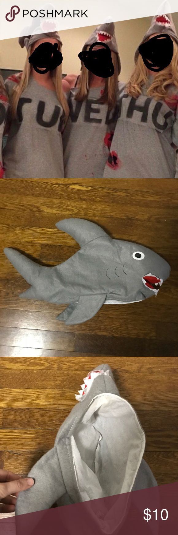 """Shark hat Shark hat. Great for Halloween costume!!! (Wore it as """"shark week"""" with multiple other people.) Accessories Hats"""