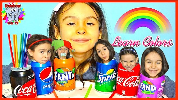 Learn Colors with Coca Cola and Fanta for Children Toddlers and Babies! ...