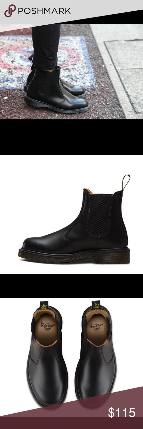 Dr martens Chelsea boots (black) Only wore a couple times, in great condition. The boots and the leather are very beautiful.US women's size7/ UK women's size5 Dr. Martens Shoes Ankle Boots & Booties