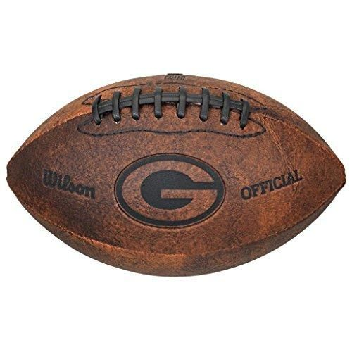 9 NFL Packers Football Composite Leather Brown Color Black Laser Stamped Team Logo Sports Themed Gift Fan Collectible Athletic Spirit