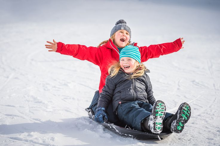 Kids Snow Top Tip:  Too long for skiing? Tobogganing is a great alternative.
