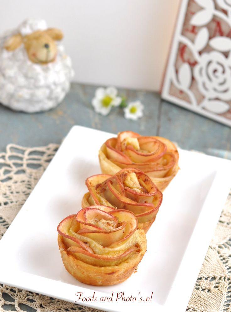 Speciaal voor moederdag: rozen appeltaartjes