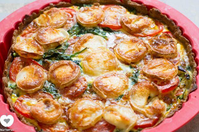 Gezond Recept: Spinazie met geitenkaas Quiche| Bioteaful
