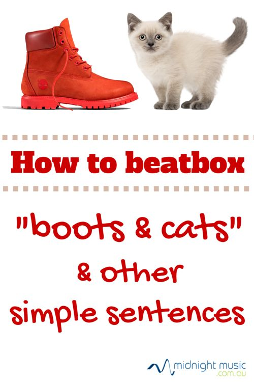"How to beatbox - ""boots and cats"" and other simple sentences. Katie Wardrobe 