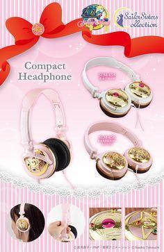 NEW Sailor Moon Compacts Headphones & Earphones!... - sailor moon collectibles
