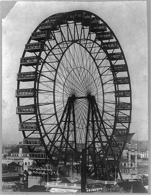 1893 Chicago World's Fair and the  introduction of the Ferris Wheel.