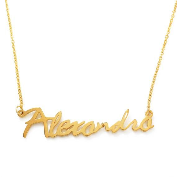 """Name Necklace /""""ANDREA/"""" High Quality Christmas 18ct Rose Gold Plated Gifts"""