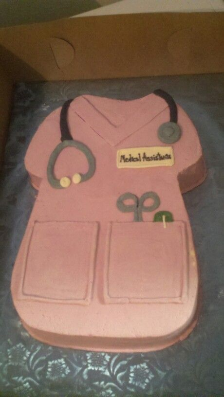 Medical assistant graduation cake