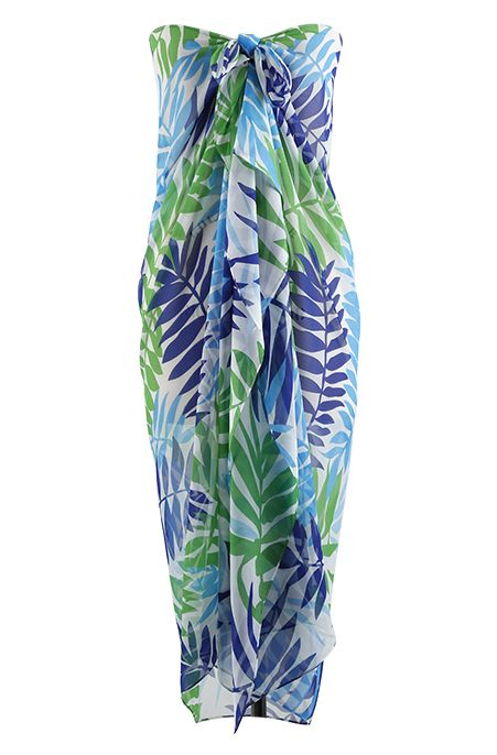 Plus Size Cover Ups - Always For Me Cover Tropical Palm Pareo Always for Me  Price:$24.00 In Stock