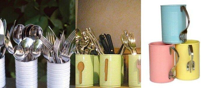 Ideas para reciclar latas, manualidades creativas 23