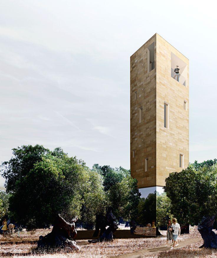 02_the tower | Luglio 2014 | Architectural Competition for students and young architects. Archistart. LHT LeveranoHorizonTower. Riflessi di paesaggio project francesco polci giacomo razzolini antonio salv