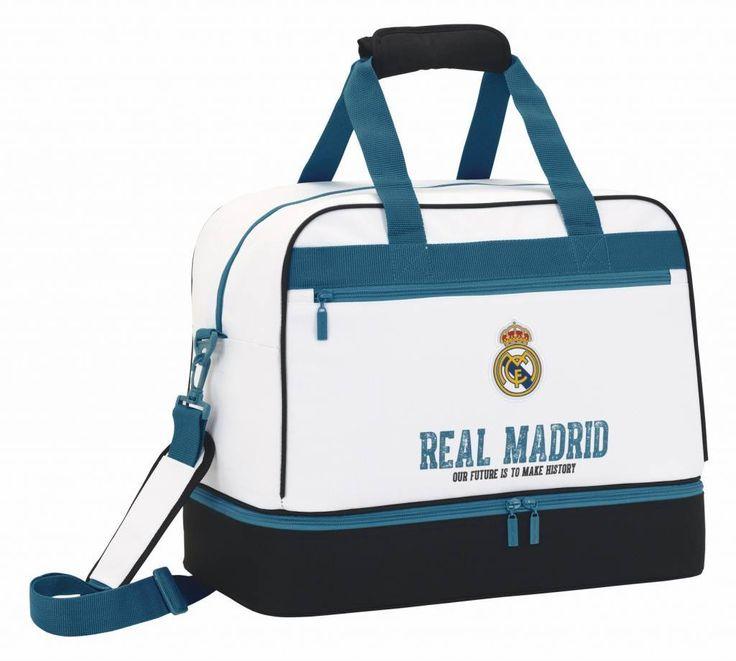 Real Madrid History - Sporttas - 48 cm - Wit  #voetbalkids #cadeau #premierleague #laliga #voetbal