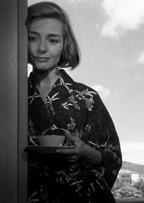 """Emmanuelle Riva. """"Hiroshima, mon amour"""" by Alain Resnais, 1959."""