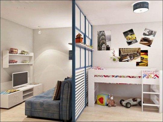Комната для двух братьев 14 и 4 года, 12.5 кв м, как их там разместить? | Идеи для ремонта