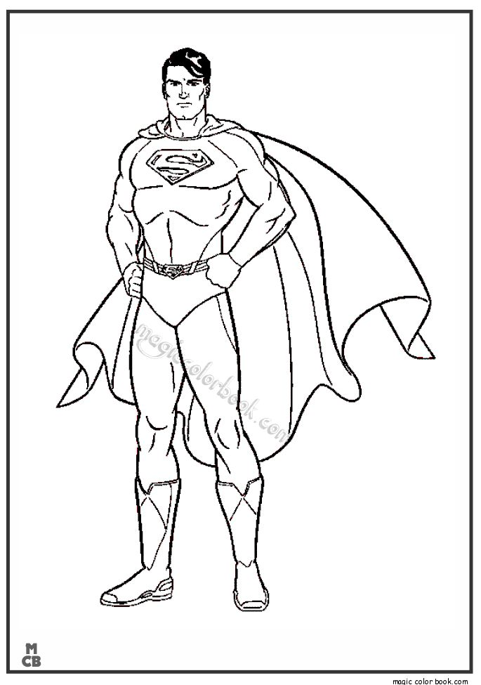 It's just a graphic of Crazy Printable Superman Coloring Pages