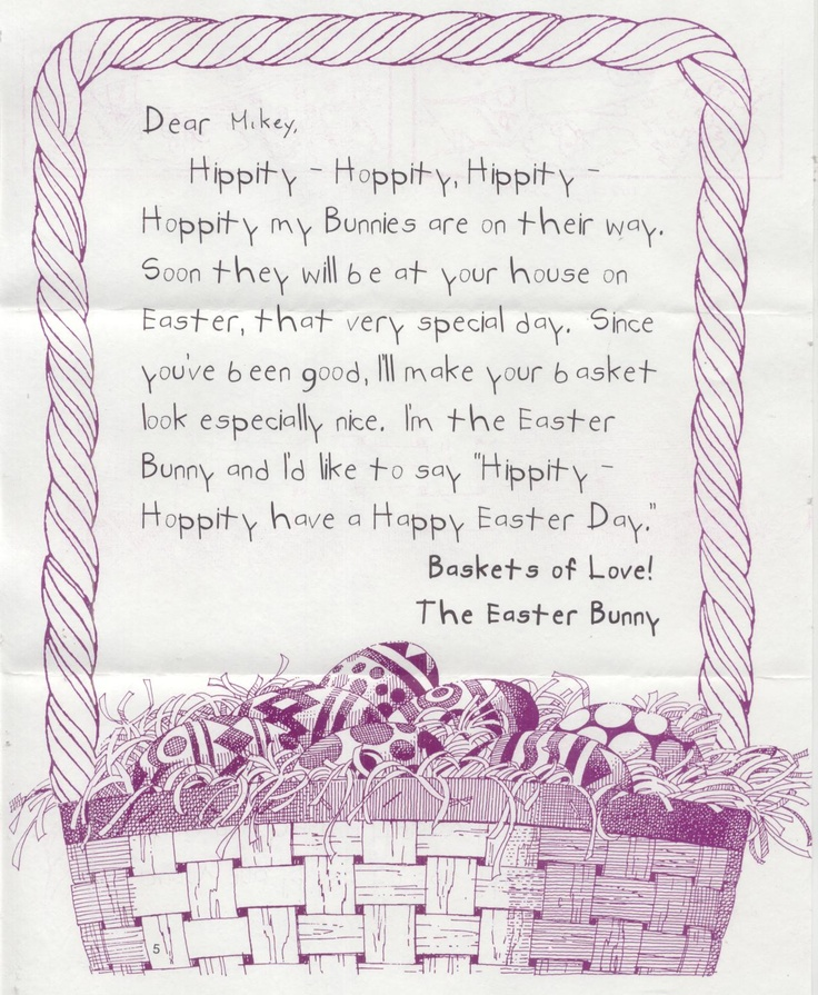 Best Easter Bunny Letters Images On   Easter Bunny
