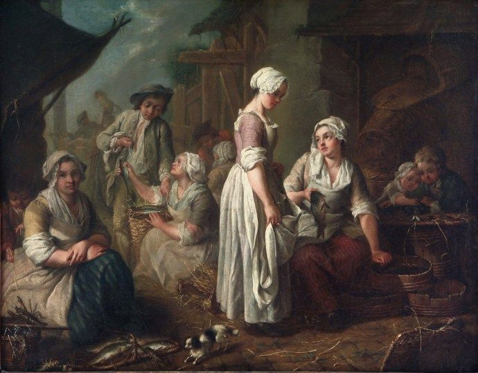 Fishmongers, Jean Baptiste Charpentier (1728-1806) from Museum of Fine Arts, Buenos Aires