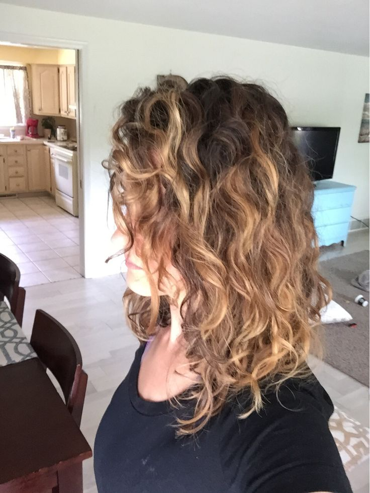 Balayage naturally curly hair - done by Sarah Collier ...