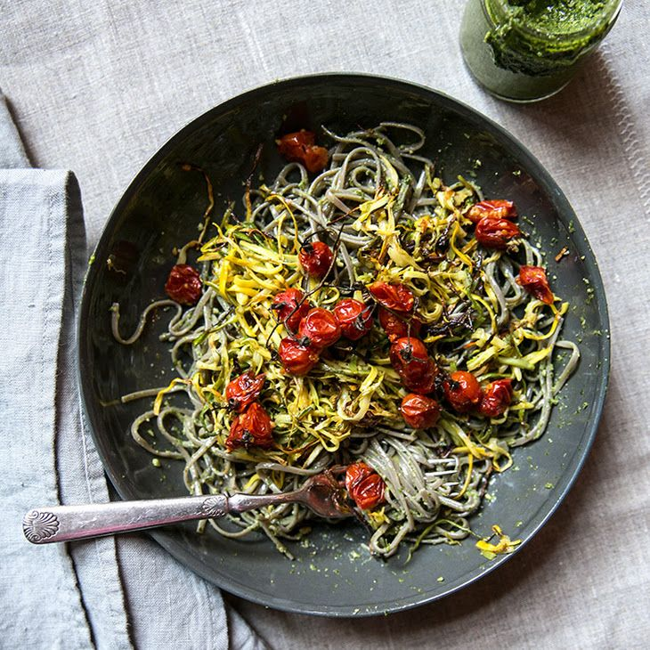Soba Noodles With Roasted Zucchini, Cherry Tomatoes ...