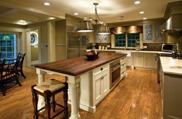 moderne küche mit kochinsel landhausküche gestalten ...