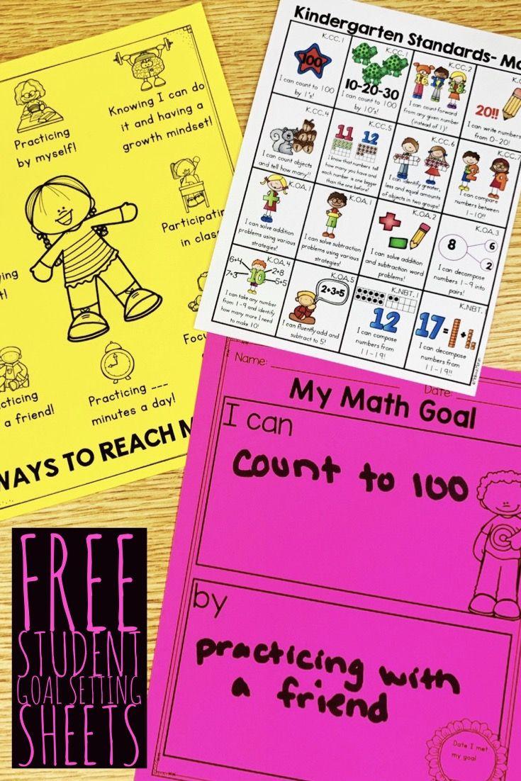 Student Goal Setting In An Elementary Classroom Student Goals Goal Setting For Students Kindergarten Goals [ 1102 x 735 Pixel ]