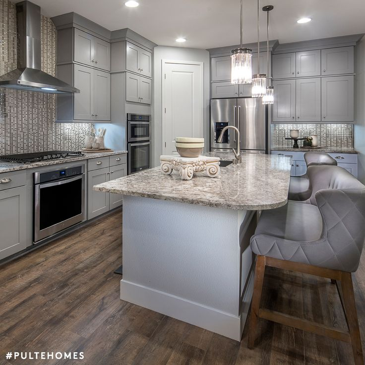 Grey Palettes With Bright Daylight Bulbs Make Any Room Pop! | Pulte Homes.  Kitchen ...
